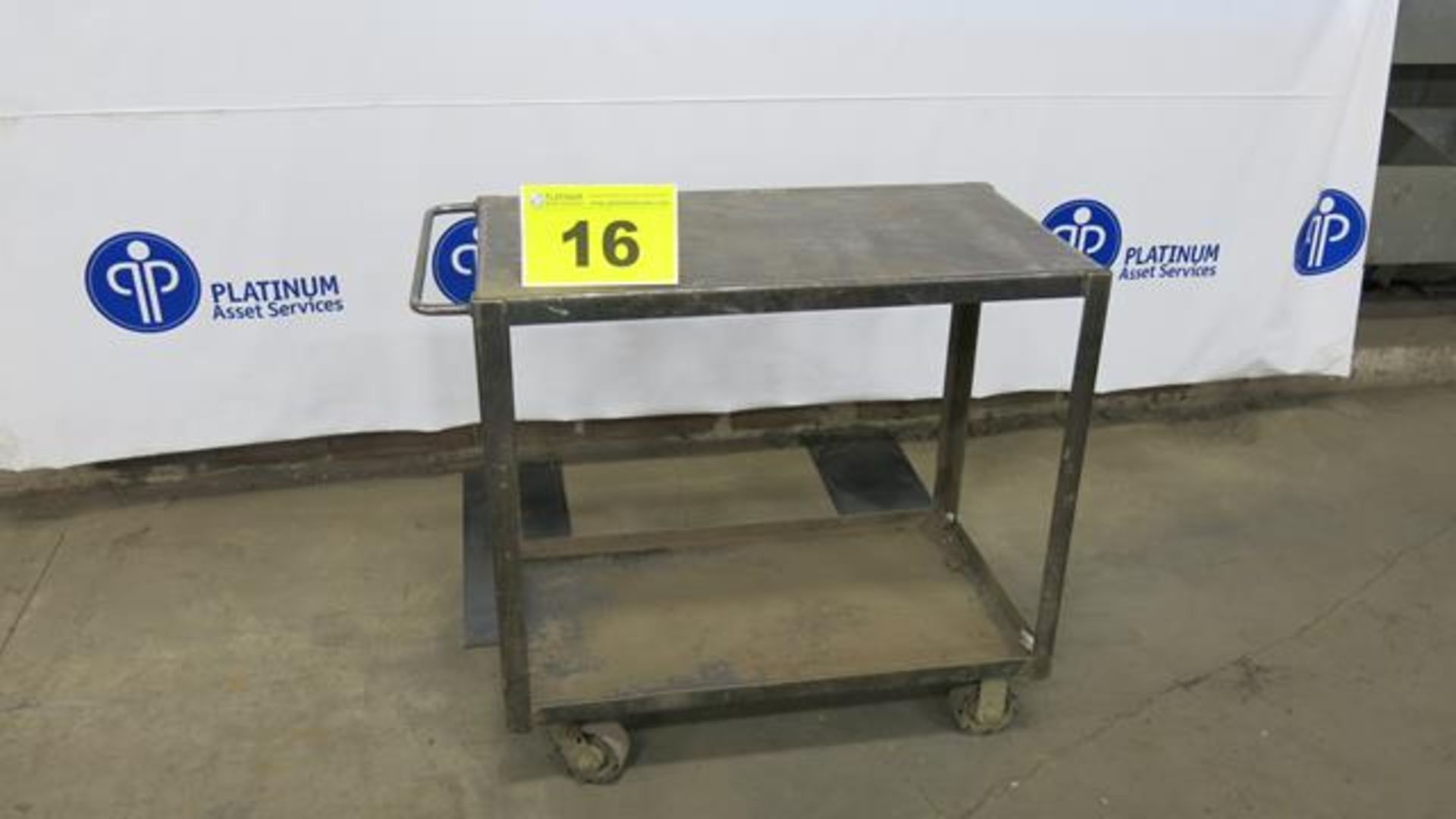 "Lot 16 - STEEL, ROLLING WORK BENCH, 20"" X 36"" X 36"""