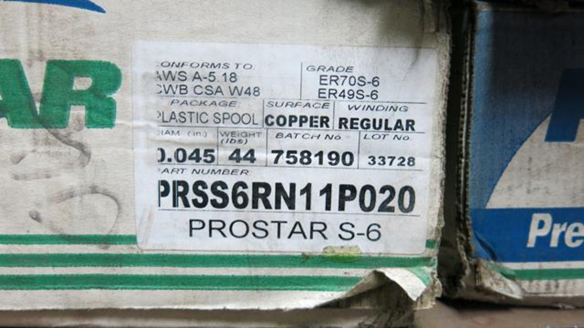 "Lot 58 - LOT OF (3) PROSTAR, PRSS6RN11P020, COPPER, 0.045"", WELDING WIRE ROLLS AND (1) PROSTAR, PRS70S6-"