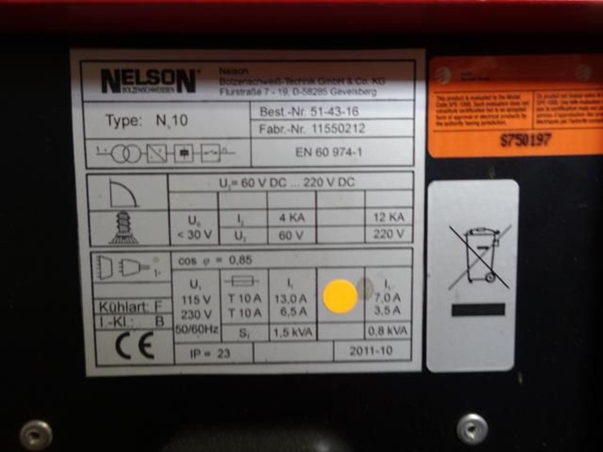 Lot 50B - NELSON, N10, CD LITE 1, STUD WELDER, S/N 51-43-16