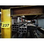 LOT OF (63) PIECES OF STEEL TUBING AND STEEL FLAT STOCK COMPRISED OF: (7) PIECES OF STEEL TUBING,
