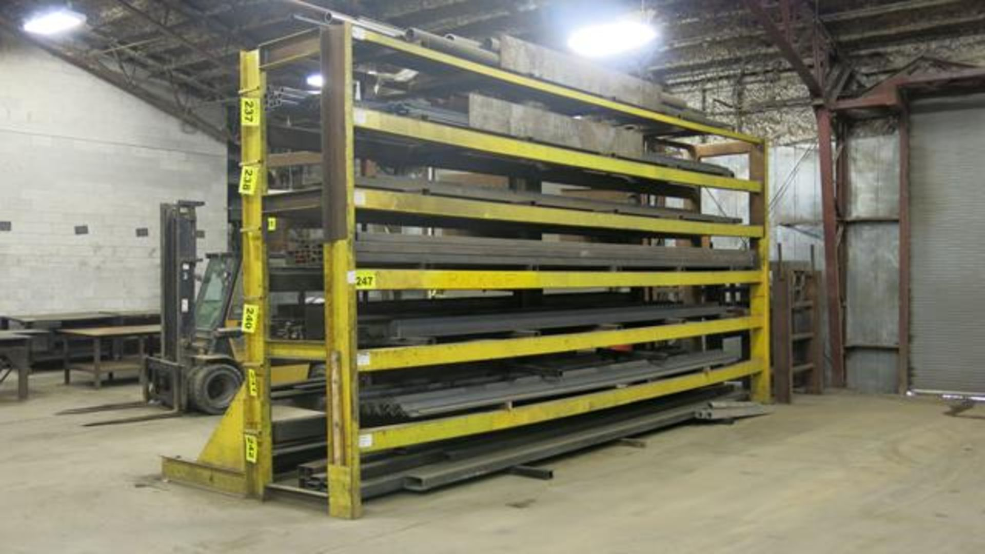 STORAGE RACK, SINGLE SIDED, 12' X 29' X 8' (CONTENTS NOT INCLUDED) (LATE DELIVERY)