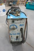 AIRCO, 200 AMP, ARC WELDER WITH MIG WIRE FEED ATTACHMENT, 220 VAC, SINGLE PHASE