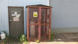 OUTDOOR STORAGE CAGE, 7' X 5' X 4' (CONTENTS NOT INCLUDED)
