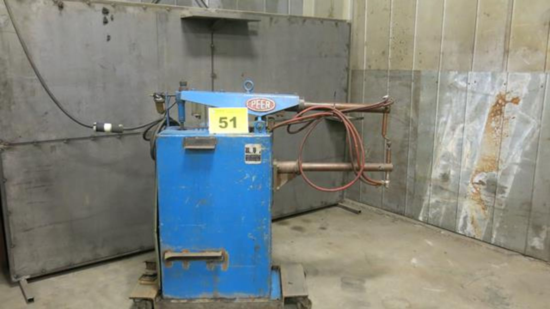 "Lot 51 - PEER, A215, 15 KVA, SPOT WELDER, 27"" THROAT, S/N 11050 (RIGGING $35)"