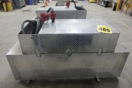 "TRUCK MOUNTED, 82"" X 30"" X 24"", ALUMINUM, TOOL CHEST WITH BEVELED INSULATED LID , 25 GALLON FUEL"