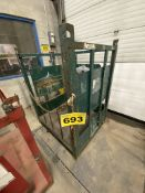 STEEL, JOBSITE, HI PRESSURE, GAS CYLINDER TRANSPORT CAGE WITH CHAINS, 5' X 4' X 4' (H,W,D)