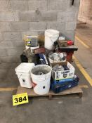 LOT OF CONSTRUCTION SUPPLIES INCLUDING NAILS AND FASTENERS, ASSORTED SIZES