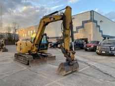 CATERPILLAR, 308E, RUBBER TRACK MOUNTED, HYDRAULIC MINI-EXCAVATOR, ENCLOSED CAB, 3,600 HOURS, 2014