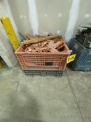 LOT OF COPPER WITH PLASTIC STACKING TOTE