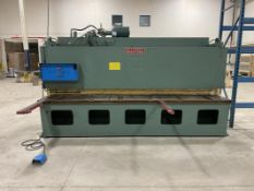 ALLSTEEL, 10G-12, 10 GA X 12', POWER SQUARING SHEAR, SQUARING AND SUPPORT ARMS. FOPBG