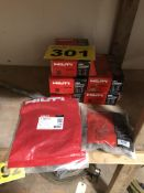 LOT OF (5) HILTI, DSH 700/900, CONSUMABLES KITS AND SUPPLY CORDS - NEW IN BOX