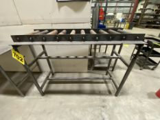 """STEEL, ROLLER INFEED CONVEYOR WITH ADJUSTABLE INCLINE, 5' X 2' X 36"""" (L,W,H), 48"""" HEIGHT MAXIMUM"""