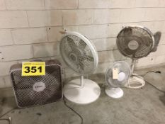 LOT OF ASSORTED FANS