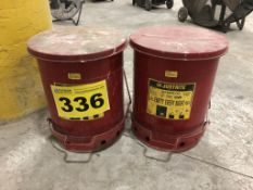 JUSTRITE, 09300, 10', OILY WASTE CANS