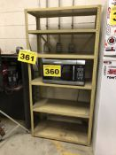 METAL, SIX SHELF, SHELVING UNIT