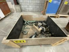 LOT OF SHEET FOAM TOOLS AND CASTERS IN TOTE