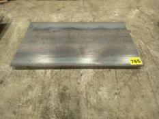 """LOT OF (1) STEEL PLATE, 5/16"""", 3' X 8' AND (1) STEEL PLATE, 5/16"""", 4' X 8'"""