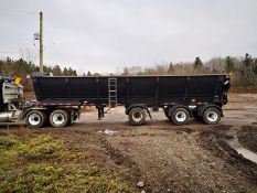 TROUT RIVER, TRI-AXLE, LIVE BOTTOM TRAILER, AIR SUSPENSION, STEER AND LIFT AXLE, POWER TARP, VIN #