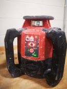 HILTI, PR 300-HV2S, OUTDOOR, ROTARY LASER LEVEL WITH PRA 83, LASER, RECEIVER HOLDER, CASE AND STAND