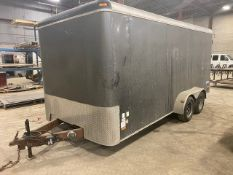 PACE, JT7, 7' X 16', DUAL AXLE, CARGO TRAILER, BARN DOORS, ELECTRIC BRAKES, VIN #