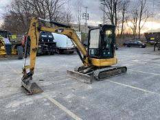CATERPILLAR, 303.5C, RUBBER TRACK MOUNTED, HYDRAULIC MINI-EXCAVATOR, ENCLOSED CAB, 3,566 HOURS, 2008