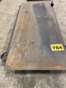 """LOT OF (1) STEEL PLATE, 5/16"""", 3' X 8', (2) STEEL PLATES, 1/4"""", 4' X 8' AND (2) STEEL PLATES, 1/"""