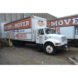 2001 International Single-Axle 26 ft. Box Moving Van Truck Model 4900 DT466E 4x2, VIN 1HTSDA9LX1H377