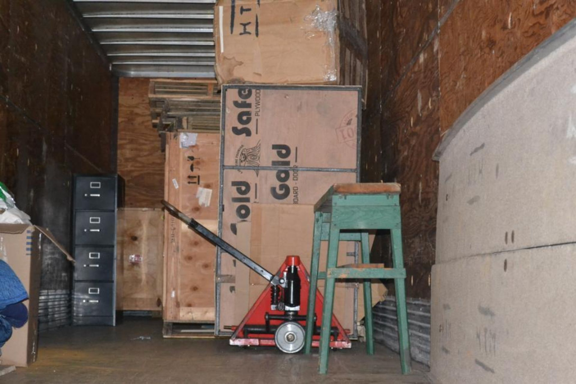LOT: Contents Including Blankets, Ramp, Pallet Jack, Crates (in Lot 9 GD)