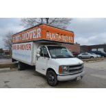 2002 Chevrolet Cut-Away 14 ft. Box Truck Model C3500, VIN 1GBJG31R121112614, 14 ft. Mover Body, Dua