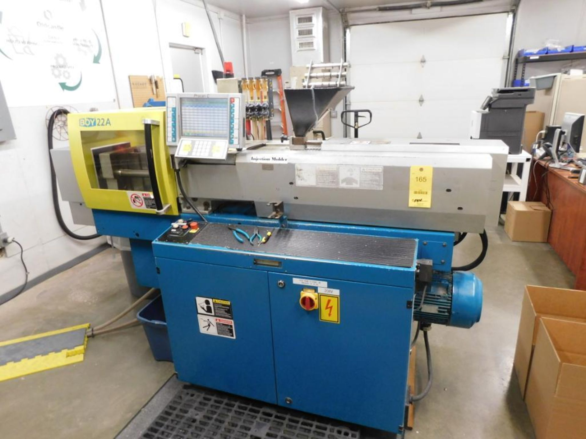 Lot 165 - Boy Injection Molder Model 22A, S/N 39206 (2003), with Procan C Operator Panel (located at Lowell