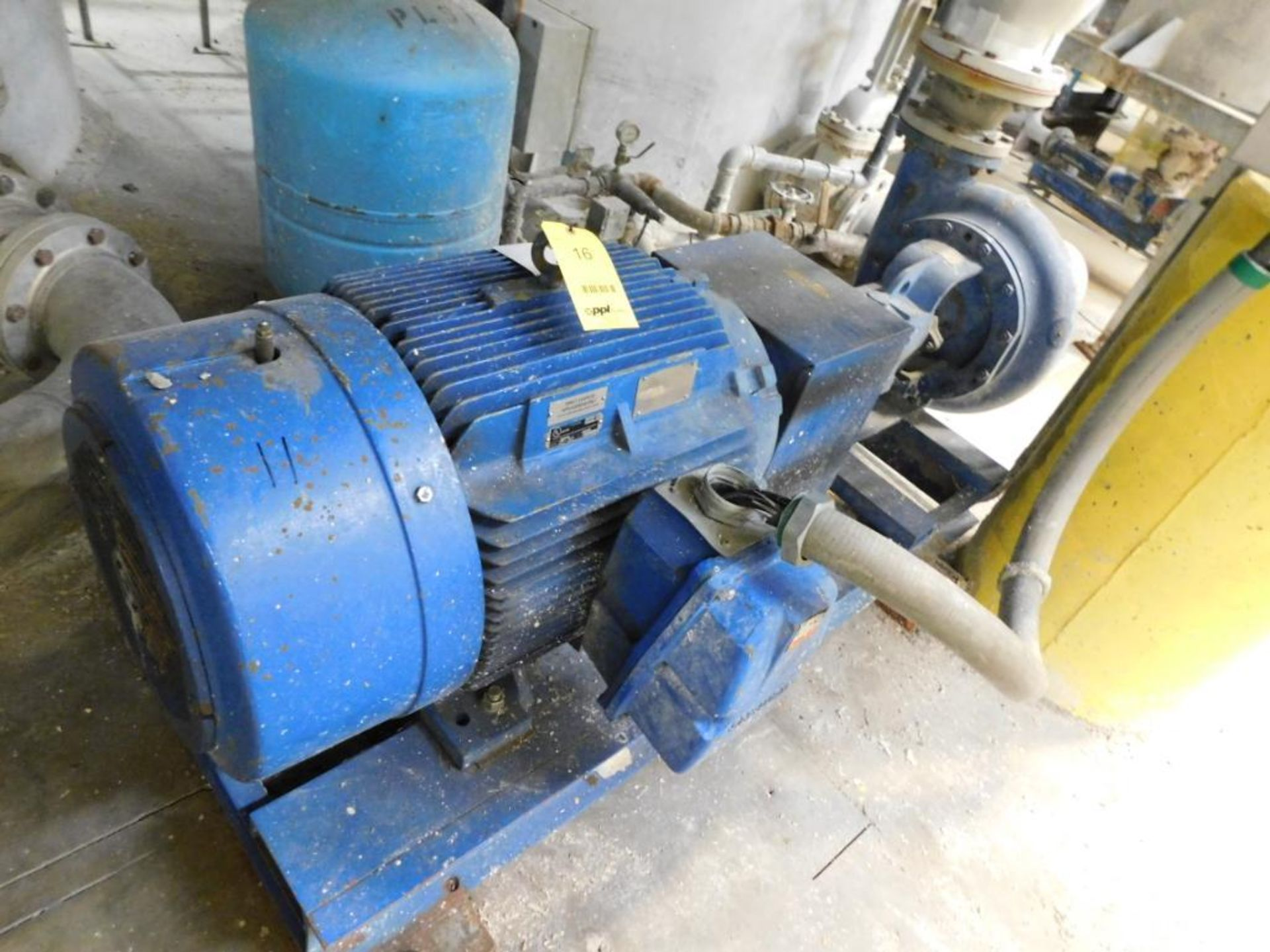 Lot 16 - National Oilwell Pump, S/N M98104 (2009), Carbon Steel, Size 8x6x14, Driven by 125 HP, 460 Volt,