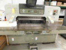 LOT: POLAR MOHR Model 115EMC-Monitor 45 in. w/Programmable Paper Cutter S/N 5631283 (New 1986) w/POL