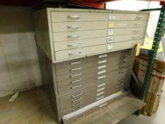 LOT: (3) 5-Drawer Flat Drawing Storage Cabinets