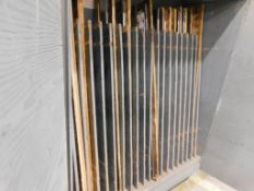 LOT: Cabinet w/(10) Sharpened 55 in. Blades, (1) Unsharpened for POLAR Cutters