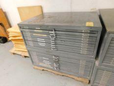 LOT: (2) 10-Drawer Flat Drawing Storage Cabinets
