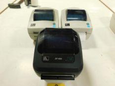 LOT: (2) ZEBRA Label Printer GL 420D, (1) ZEBRA Label Printer ZP 450