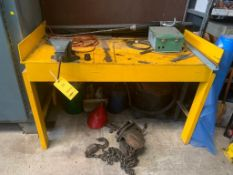 LOT: Work Bench with Vise & Contents, including Hoist