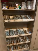 LOT: (1) Cabinet with Contents of Electrical Parts, etc., (1) Cabinet with Contents of Bolts & Screw