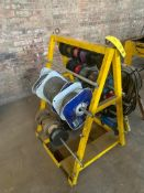 LOT: Wire Rack with Electrical Wire, Wire Winder