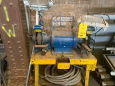 LOT: Double End Grinder & Bench