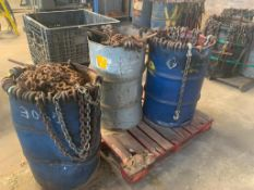 LOT: (3) Barrels of Chain Binders & Chains on (1) Pallet