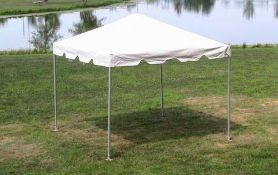 10 ft. x 10 ft. Frame Tents - Complete (sidewalls and rain gutters lots available)