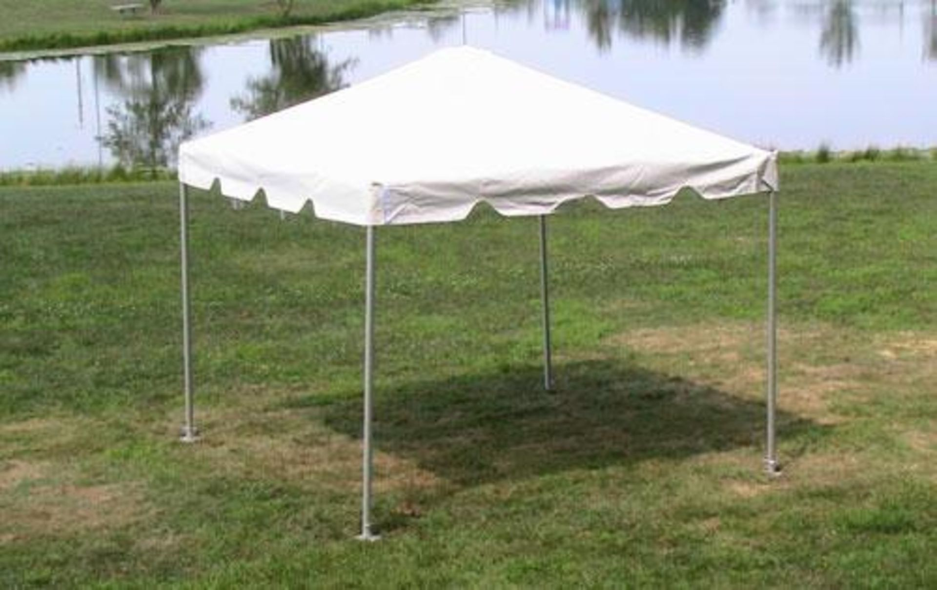 Lot 48 - 10 ft. x 10 ft. Frame Tents - Complete (2018) (sidewalls and rain gutters lots available)