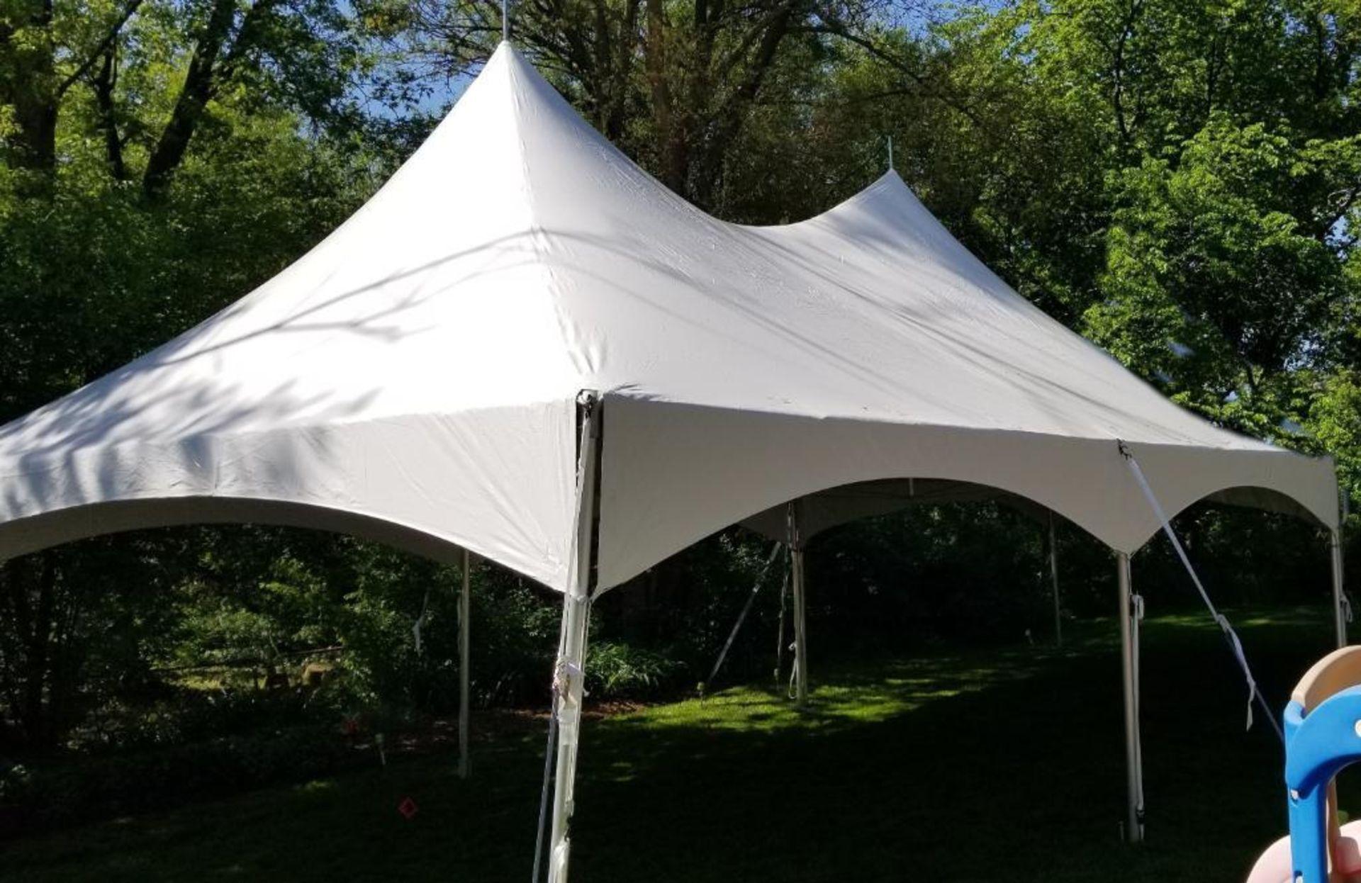 Lot 27 - 20 ft. x 30 ft. Hi Peak Frame Tent - Complete (sidewalls available)