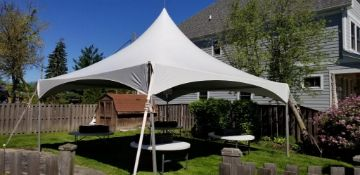20 ft. x 20 ft. PINNACLE Hi Peak Frame Tent - Complete (sidewalls and rain gutters lots available)