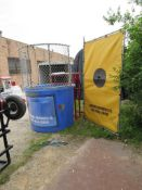 Dunk Tank Trailer mounted - includes bucket of balls, target and activation arm. (see lot 24A misc.