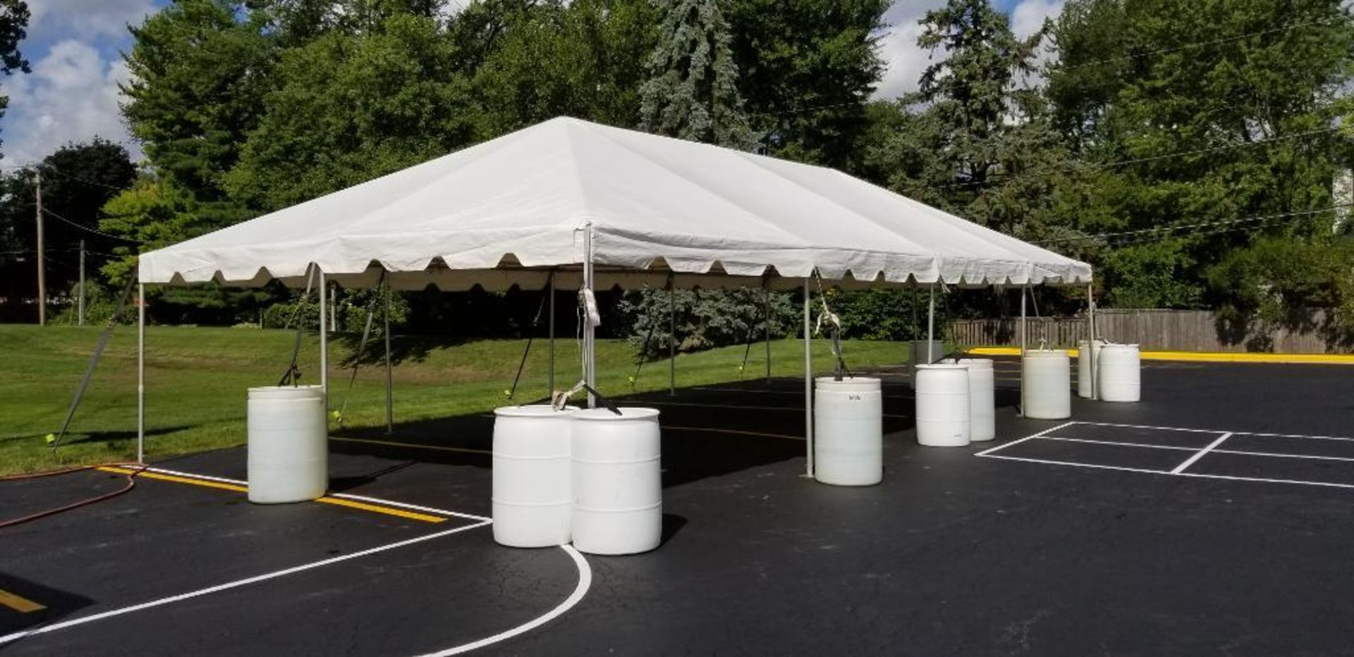 Lot 28 - 20 ft. x 40 ft. Frame Tent - Complete (sidewalls available)