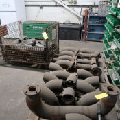 LOT: Assorted 6 in. and 8 in. Steel Fittings on (2) Pallets, (1) Cart