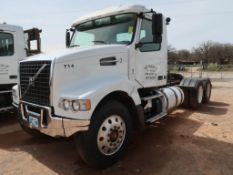 2012 Volvo Model VHD, Tandem Axle Tractor, 12.8L LG Diesel, w/ Challenger 607 Pump, 13-Speed Trans,