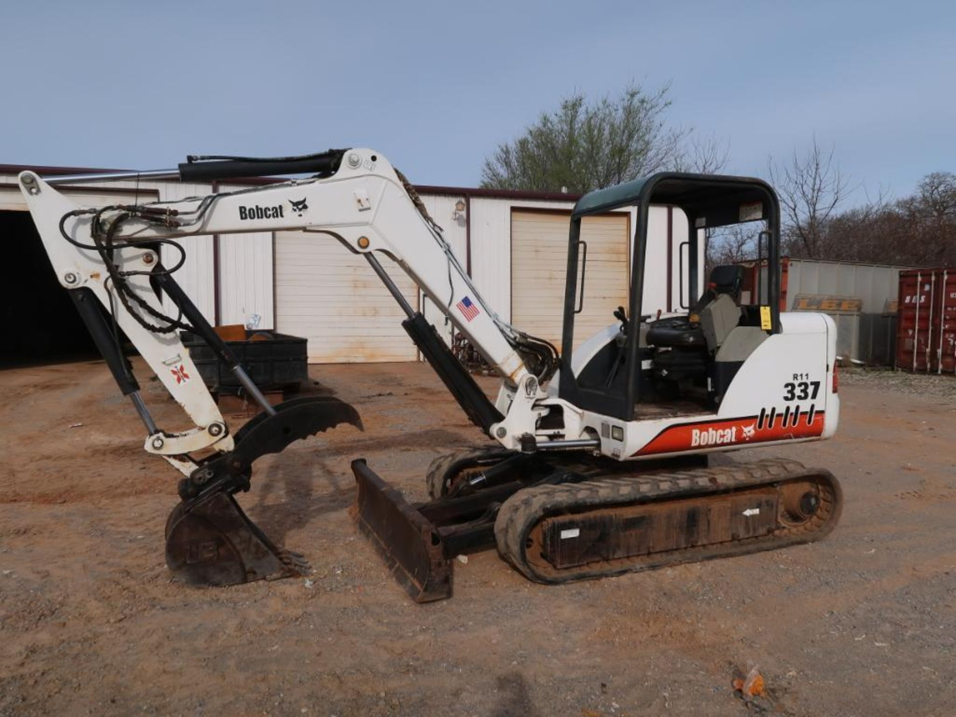 Lot 110 - 2001 Bobcat Model 377-D, Mini Excavator, Diesel, Hydraulic Thumb, 16 in. Bucket, S/N 233311416, 5860